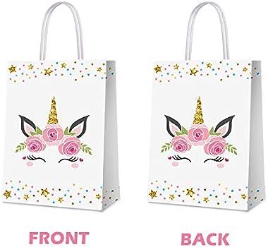 Unicorn party favor bags Unicorn bags 16- Unicorn Party Unicorn Birthday Unicorn favor bags 5x7 unicorn party favors Unicorn bag