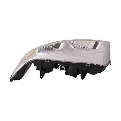 HEADLIGHTSDEPOT Chrome Housing Halogen Headlight Compatible with Saturn Ion 2003-2007 Includes Left Driver Side Headlamp