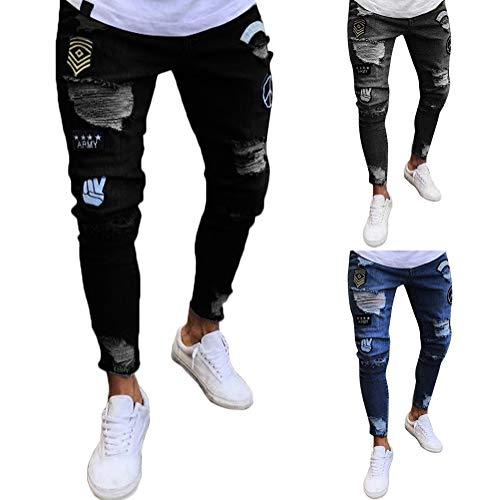 Chic Homme Slim Insigne Jeans Tomwell Denim Fit Trousers Skinny Pantalons Noir Mode En CwYqCfxU