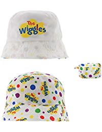 The Wiggles Reversible Packable Bucket Hat for Kids in White (2-3X)