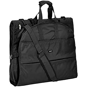 AmazonBasics Premium Tri-Fold Travel Hanging Garment Bag - 63 Inch, Black