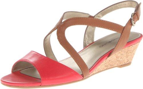Bandolino Women's Grayson Wedge Sandal - Orange/Cognac - ...