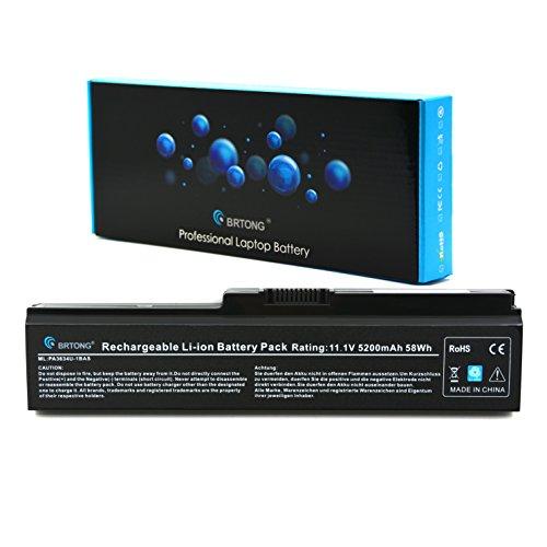 BRTONG Laptop Battery for Toshiba Satellite PA3634U-1BAS PA3634U-1BRS A665 L645 M300 M301 M305 M505 U400 U405 C655 C660D L600 L630 L640 L650 PA3635U-1BRM PA3636U-1BRL (Pa3634u 1bas Battery)