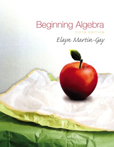 Beginning Algebra Value Pack (includes DVD  & Student Solutions Manual  for Beginning Algebra) (5th Edition)