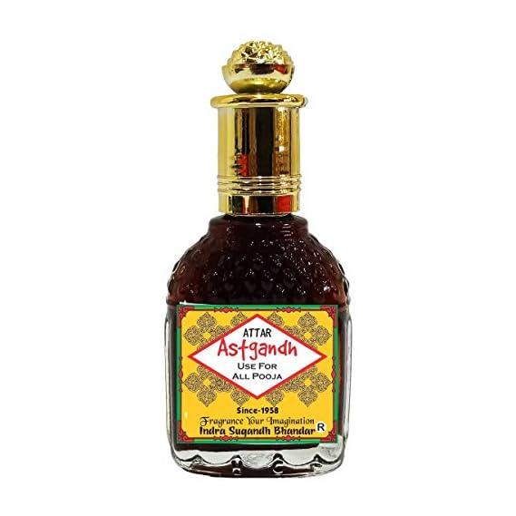 INDRA SUGANDH BHANDAR Attar Astgandh Perfume with 8 Variant Kasturi, Amber, Kesar, Chandan, Gulab, Oudh, Hena Mix