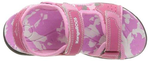 Kangaroos Camo Sinc - Sandalias Deportivas de material sintético Infantil Rosa - Rose (661 Pink Magenta)