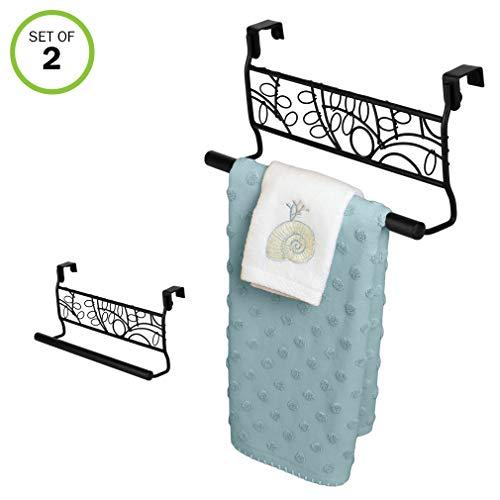 Evelots Over Cabinet Door Towel Bar-Bathroom-Kitchen-No -