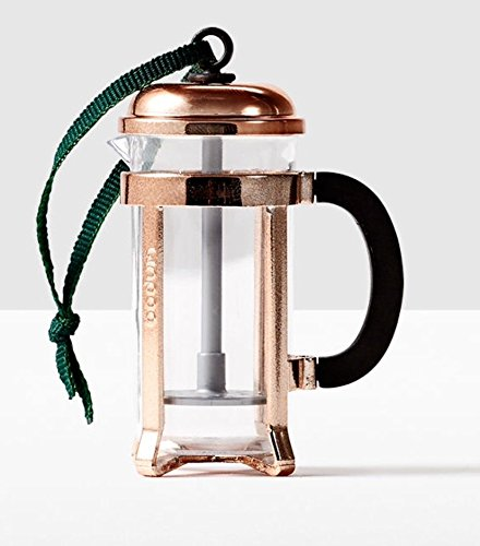 Starbucks 2016 Copper Coffee Press Ornament