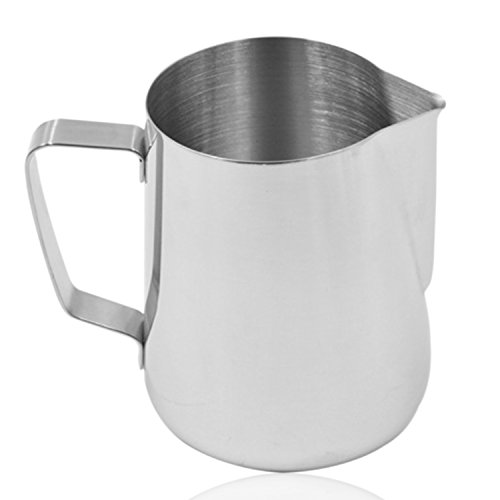 6 Oz Stainless Steel Milk Frothing Pitcher Cup, Measuring Sc