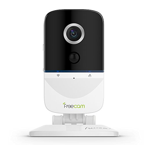 FREECAM Mini Baby Monitor-Wireless IP Camera with Rechargeable Battery Security Surveillance System 720P HD 5M IR PIR Sensor for Smart Home Indoor (C330)