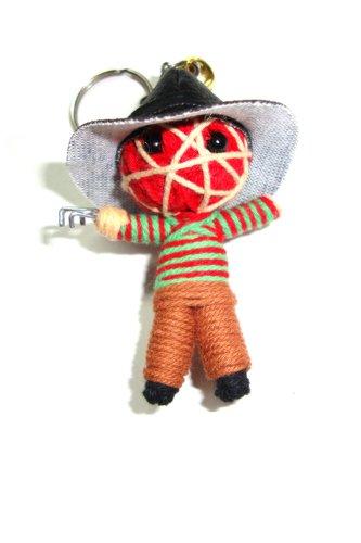 Freddy Krueger Voodoo String Doll Keyring Keychain