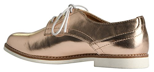 Lusthave Mujeres Cooper Lace Up Oxfords Zapatillas Zapatillas Dark Penny