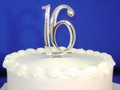 (Swarovski Crystal Monogram Cake Topper Sweet 16 By PLAZA LTD)