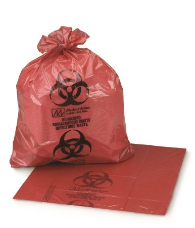 Infectious Waste Bag Medi-Pak - Item Number 03-5042BX - 11'' x 14'' - 50 Each / Box