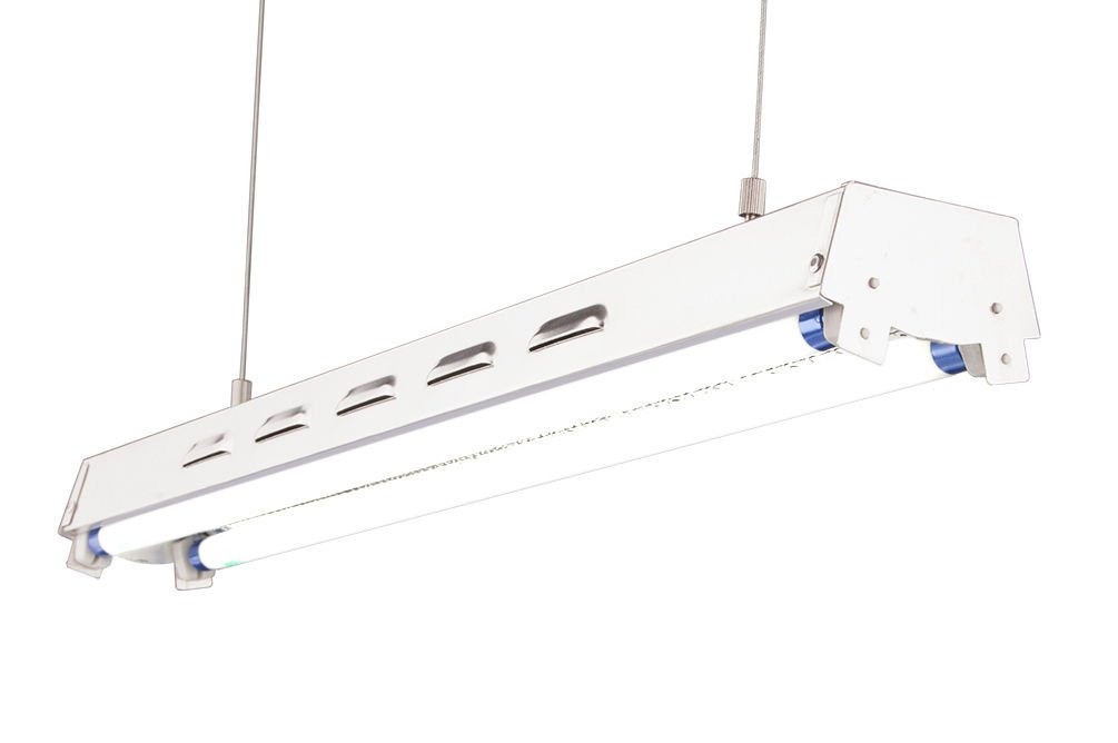 DuroLux DL822S T5 2Ft 2 Fluorescent Lamps Grow Lighting System with 5000 Lumens and 6500K Full Spectrum and Super Low Profile 3.5'' Wide Reflector