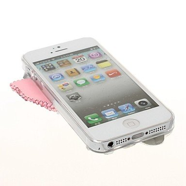 DIY 3D Pink Bow and Diamond with Rhinestone Pattern Plastic Case for iPhone 5/5S