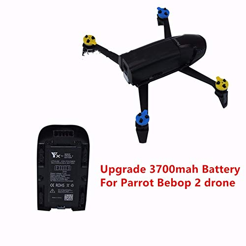 Yoton Accessories 11.1V 3700MAH Battery Parrot Rc Drone 21.6A 41.07Wh Lipo Battery Bebop Drone 2.0 Quadcopter Upgrade ()