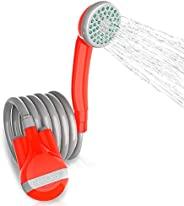 Upgraded 2017 Portable Camping Shower - Battery Powered For Outdoors, Pet Cleaning, Plants Watering - rinse ki