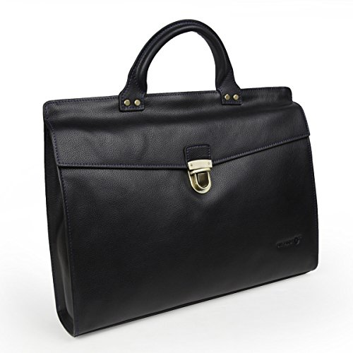 LB1 High Performance Leather Laptop Briefcase Bag Tote HandBag Messenger Bag for Asus R11CX-EU17-BK Intel Atom N2600 10.1