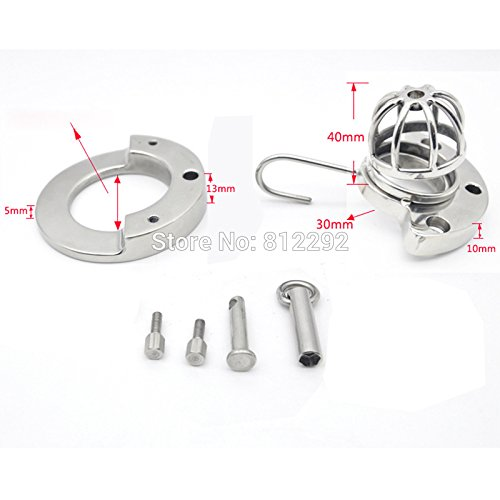 Hetam 2017 NEW Super Small Male Cock Cage Adult Chastity Device With Urethral Catheter BDSM Sex Toys Stainless Steel Chastity Belt by Hetam
