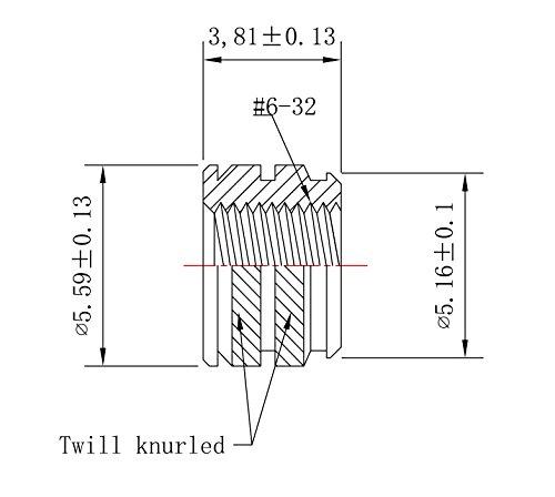[initeq] # 6 - 32 calor conjunto insertos roscados para 3d impresión: Amazon.es: Bricolaje y herramientas