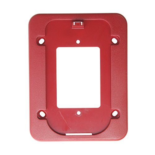 System Sensor BBS SpectrAlert Advance Alarm Wall Mount Back Box Skirt, Red