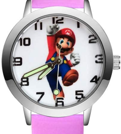 YUNMEI Super Mario Montres Fashion Cute Mario Style Montres Enfants Étudiant Filles Garçons