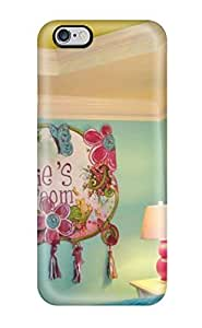 DustinHVance Scratch-free Phone Case For Iphone 6 Plus- Retail Packaging - Blue And Green Girl8217s Bedroom With Tray Ceiling
