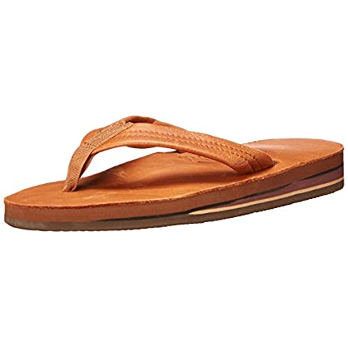 d33909d96 Rainbow Sandals Women s Classic Leather Tan With Brown Double Layer -  Medium ... good
