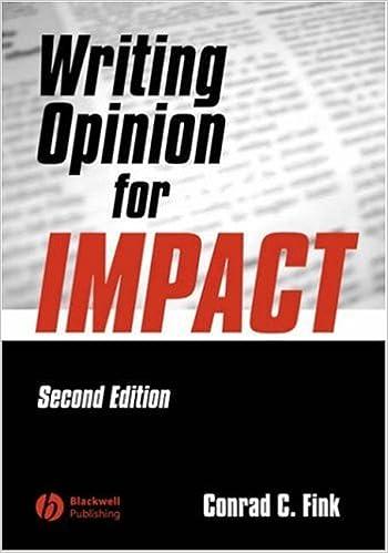 Writing Opinion for Impact: Conrad C. Fink: 9780813807515: Amazon ...