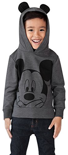 Disney Mickey Mouse Little Boys Toddler Lightweight Hoodie Shirt, 2T (Disney Sweatshirt Mickey)