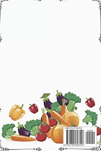 Mi Plato Saludable – Libro de Recetas en Blanco: Cuaderno Recetario con hoja de Memorias para cada receta, 6in x 9 in…
