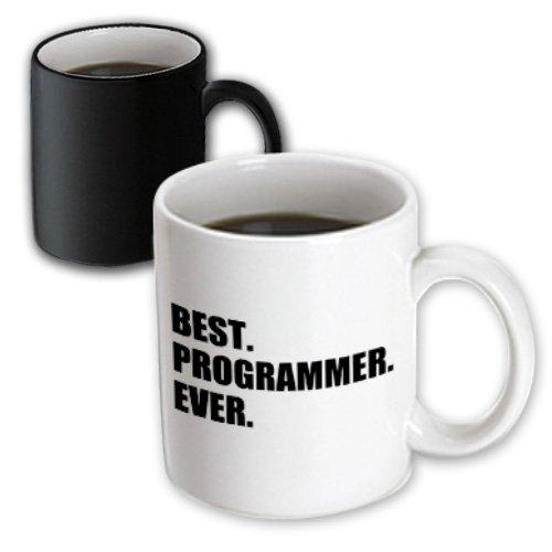 (3dRose mug_185015_3 Best Programmer Ever, Fun Gift for Talented Computer Programming, Text Magic Transforming Mug, 11-Ounce)