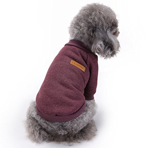 (Fashion Focus On Pet Dog Clothes Knitwear Dog Sweater Soft Thickening Warm Pup Dogs Shirt Winter Puppy Sweater for Dogs (Brown, XL))