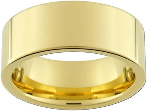 9mm Gold Tungsten Carbide Rings (full and half sizes 5-15)