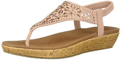(Skechers Women's Brie-Dally-Laser Cut Rhinestone Hooded Slingback Sandal, Pink 11 M US)