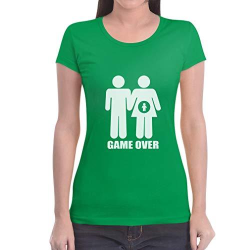 Fit Slim Verde Coppia Da Maglietta Over Divertente Di Grafica Game Donna nqTWPvUzx8