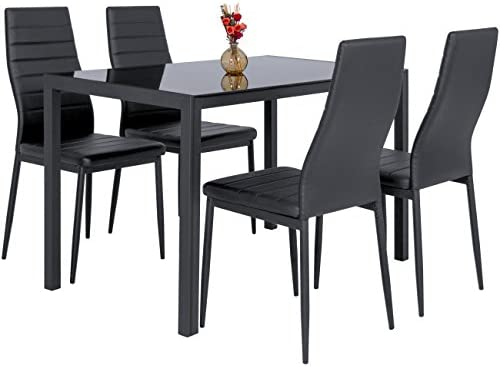 home, kitchen, furniture, kitchen, dining room furniture,  table, chair sets 6 discount Best Choice Products 5-Piece Kitchen Dining Table deals