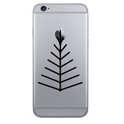 2x-stickany-phone-series-twig-tree-arrow-head-sticker-for-iphone-galaxy-s-lg-htc-sony-and-more-black