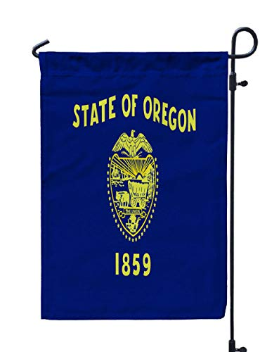 Shorping Season Garden Flag, 12x18Inch for Holiday and Seasonal Double-Sided Printing Yards Flags Oregon State Flag ()