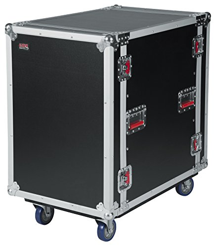 "Gator Cases G-TOUR Deep Audio Road Rack with Heavy-Duty Casters and Tour Grade Hardware; 24"" Rackable Depth, 16U (G-TOUR 16U CAST) from Gator"