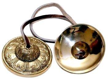 Musical Instruments Manjeera - Traditional Percussion Instrument Indian folk devotional music - Hand Tuned Meditation Bell -UP-manjira003