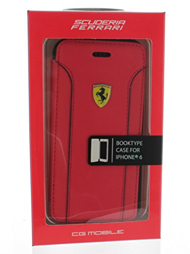 Scuderia Ferrari Fiorano Red Real Genuine Leather Booktype for Apple iPhone 6