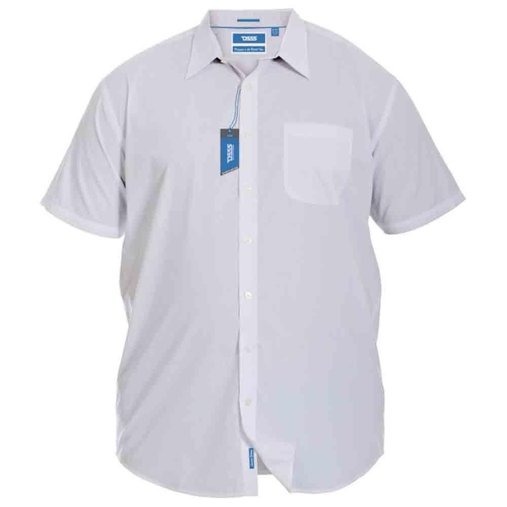 Duke D555 Mens King Size Big Tall Delmar Easy Iron Short Sleeve Collared Shirt