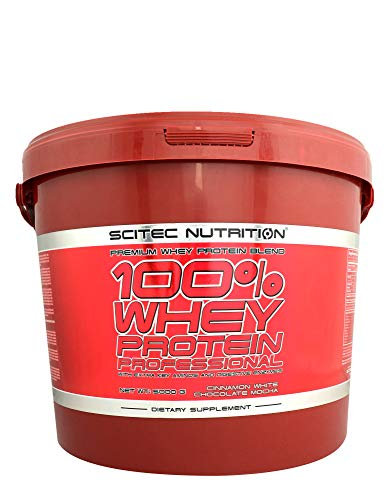 SCITEC NUTRITION 100% Whey Protein Professional 5000g qer pack 5kg Molkenproteinpulver Protein Chocolate Coconut…