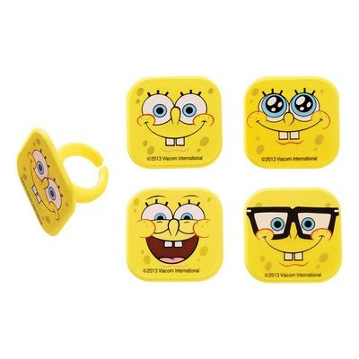 DecoPac Spongebob Squarepants Mood Faces Cupcake Rings - 24 pcs -