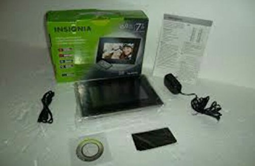 Insignia 7 Widescreen LCD Digital Photo Frame - Black/Silver by Insignia by Insignia