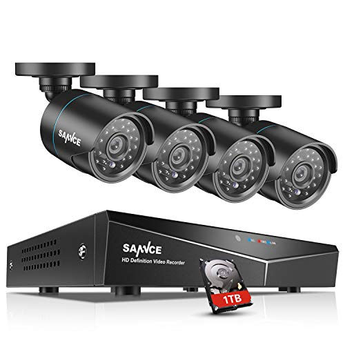 SANNCE 4CH 1080N Security Camera System DVR Recorder with 1T