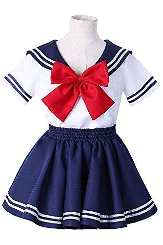 (Tollbuy Kids Girl's School Uniform Sailor Dress Cosplay)