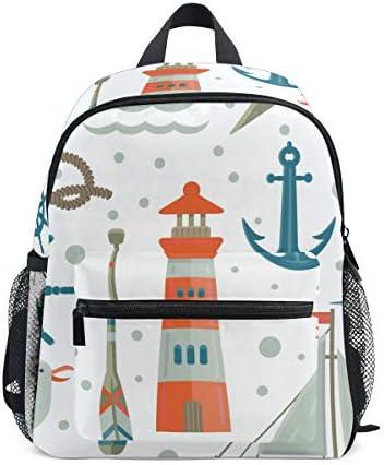 リュック 子供用 深海 かもめ 船 キッズ デイパック 大容量 軽量 通園 保育園 3-8歳 遠足 リュックサック 女の子 男の子 旅 プレゼント
